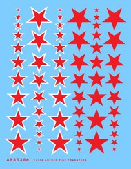 Archer Fine Transfers  1/35 Red Stars/Insignias (30 Red & 30 w/White Outline) AFT35386