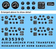 Archer Fine Transfers  1/35 M19 Transporter Instruments & Placards For Merit AFT35390