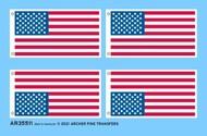 Archer Fine Transfers  1/35 Fabric Texture Applique: US Flags AFT35511