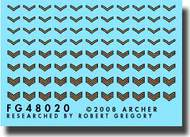 Archer Fine Transfers  1/48 US Vehicle Registration Codes (White) (Stencil Style) AFT48020W