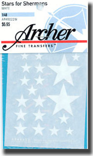 Archer Fine Transfers  1/48 Stars for Sherman Tanks (White) AFT48022W
