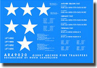 Archer Fine Transfers  1/48 T-26 Pershing Tank Markings AFT49020