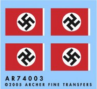 Archer Fine Transfers  1/72 1/72-1/76 German National Flags AFT74003