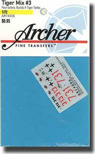 Archer Fine Transfers  1/72 Tiger Mix #3 AFT74006
