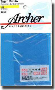 Archer Fine Transfers  1/72 Tiger Mix #4 AFT74007