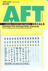 Archer Fine Transfers  1/35 German Fire Extinguisher Placards AFT77046