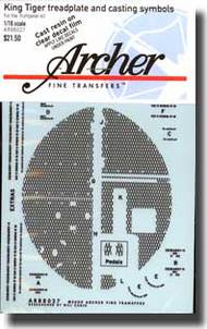 Archer Fine Transfers  1/16 King Tiger Treadplate and Casting Symbols AFT88027