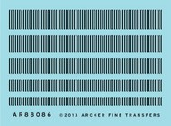 Archer Fine Transfers  O Surface Details: O Louver Mix (2.6 linear inches 5 diff 132mm each) AFT88086