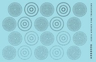 Archer Fine Transfers   N/A Surface Details: Rivets in Circular Patterns (Various Scales) (D)<!-- _Disc_ --> AFT88096