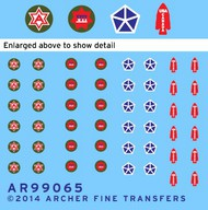 Archer Fine Transfers  1/35 US 6th Army, 5th & 7th Corps, Special Service Patches (D)<!-- _Disc_ --> AFT99065