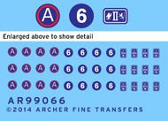 Archer Fine Transfers  1/35 US 3rd Army & 2nd, 6th Corps Uniform Patches (D)<!-- _Disc_ --> AFT99066