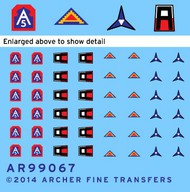 Archer Fine Transfers  1/35 US 1st, 5th, 7th Army & 3rd Corps Uniform Patches (D)<!-- _Disc_ --> AFT99067