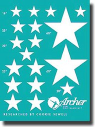 Archer Fine Transfers  1/35 US Vehicles Stars (White) AFT35022W
