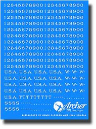 Archer Fine Transfers  1/35 US Vehicle Registration Codes (White) AFT35025W