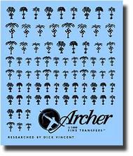 Archer Fine Transfers  1/35 Africa Korps Symbols (Black) AFT35026B