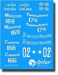 Archer Fine Transfers  1/35 T/34-76 Soviet WWII Turrett Markings #1 AFT35028
