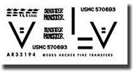 Archer Fine Transfers  1/72 1st TKS USMC M1A1 Abrams Tank in Iraq AFT72194