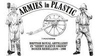 Armies in Plastic  1/32 Boxer Rebellion 1900 British Royal Artillery Shirt Sleeve Order (5) w/7-Pdr Gun (D)<!-- _Disc_ --> AIN5559