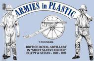 Armies in Plastic  1/32 Egypt & Sudan 1882-98 British Royal Artillery Shirt Sleeve Order (5) w/7-Pdr Gun (D)<!-- _Disc_ --> AIN5561