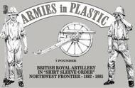 Armies in Plastic  1/32 Northwest Frontier 1882-85 British Royal Artillery Shirt Sleeve Order (5) w/7-Pdr Gun (D)<!-- _Disc_ --> AIN5563
