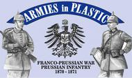 Armies in Plastic  1/32 Franco-Prussian War 1870-1871 Prussian Infantry (18) (D)<!-- _Disc_ --> AIN5567