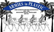 Armies in Plastic  1/32 Gordon Relief Expedition 1884-85 Royal Camel Artillery Set #1 (4 Mtd) (D)- Net Pricing AIN5587