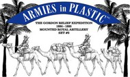 Armies in Plastic  1/32 Gordon Relief Expedition 1884-85 Royal Camel Artillery Set #3 (2 Mtd + 2 Camels) (D)- Net Pricing AIN5589