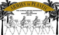 Armies in Plastic  1/32 Gordon Relief Expedition 1884-85 Camel Infantry Set #1 (4 Mtd) (D)- Net Pricing AIN5591