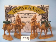 Armies in Plastic  1/32 Gordon Relief Expedition 1884-85 Camel Infantry Artillery Set #4 (2 Mtd + 2 Camels) (D)- Net Pricing AIN5594