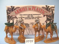 Armies in Plastic  1/32 Gordon Relief Expedition 1884-85 Camel Regiment Artillery Set #4 (2 Mtd + 2 Camels) (D)- Net Pricing AIN5595