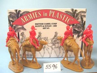Armies in Plastic  1/32 Egypt & Sudan 1882 British Camel Corp Set #1 (4 Mtd) (D)- Net Pricing AIN5596