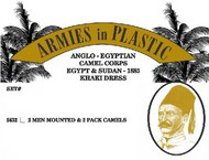 Armies in Plastic  1/32 Anglo-Egyptian Camel Corps Egypt & Sudan 1885 Khaki Dress (2 Mtd on Camels & 2 Pack Camels) (D)<!-- _Disc_ --> AIN5632