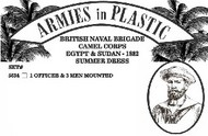 Armies in Plastic  1/32 British Naval Brigade Camel Corps Egypt & Sudan 1882 Summer Dress (Officer & 3 Men Mtd on Camels) (D)<!-- _Disc_ --> AIN5634