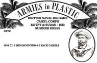Armies in Plastic  1/32 British Naval Brigade Camel Corps Egypt & Sudan 1882 Summer Dress (2 Mtd on Camels & 2 Pack Camels) (D)<!-- _Disc_ --> AIN5636