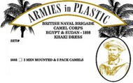 Armies in Plastic  1/32 British Naval Brigade Camel Corps Egypt & Sudan 1898 Khaki Dress (2 Mtd on Camels & 2 Pack Camels) (D)<!-- _Disc_ --> AIN5644