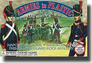 Armies in Plastic  1/32 Napoleonic Wars Waterloo 1815 French Old Guard Foot Artillery Crew (5) w/Cannon- Net Pricing AIN5430