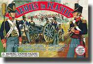 Armies in Plastic  1/32 Napoleonic Wars Waterloo 1815 British Royal Artillery Crew (5) w/Cannon- Net Pricing AIN5431