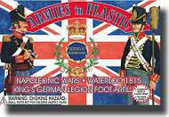 Armies in Plastic  1/32 Napoleonic Wars Waterloo 1815 Kings German Legion Foot Artillery Crew (5) w/Cannon- Net Pricing AIN5433