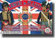 Armies in Plastic  1/32 Napoleonic Wars Waterloo 1815 Kings German Legion Horse Artillery Crew (5) w/Cannon- Net Pricing AIN5434