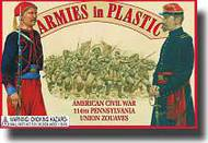 Armies in Plastic  1/32 American Civil War 114th Union Pennsylvania Zouaves- Net Pricing AIN5437