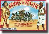 Armies in Plastic  1/32 Egypt & Sudan 1881-1898 Beja Tribesman Fuzzy Wuzzy Warroirs- Net Pricing AIN5441