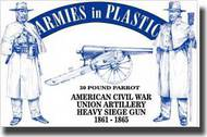 Armies in Plastic  1/32 American Civil War Union Artillery Crew (5) w/30-Pound Parrot Cannon- Net Pricing AIN5500