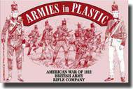 Armies in Plastic  1/32 American War of 1812 British Army Rifle Company- Net Pricing AIN5505