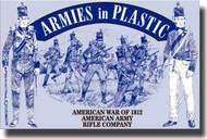 Armies in Plastic  1/32 American War of 1812 American Army Rifle Company- Net Pricing AIN5506