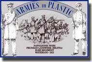 Armies in Plastic  1/32 Napoleonic Wars Waterloo 1815 Prussian Landwehr (Militia) Elbe Regiment - Net Pricing AIN5522