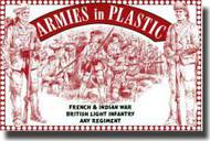 Armies in Plastic  1/32 French & Indian War British Light Infantry Any Regiment- Net Pricing AIN5553
