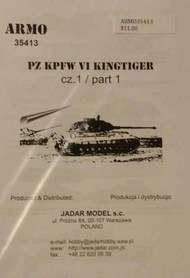 Armo  1/35 Pz.Kpfw.VI Kingtiger vol.1 ARMO35413
