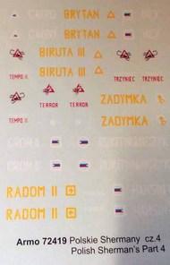 Armo  1/72 Polish Sherman's part 4 ARMO72419