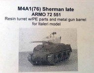 Armo  1/72 M4A1 (76) Sherman (late) - (ITA) ARMO72551