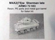 Armo  1/72 M4A2 (75)w Sherman (late) (ITA) ARMO72553